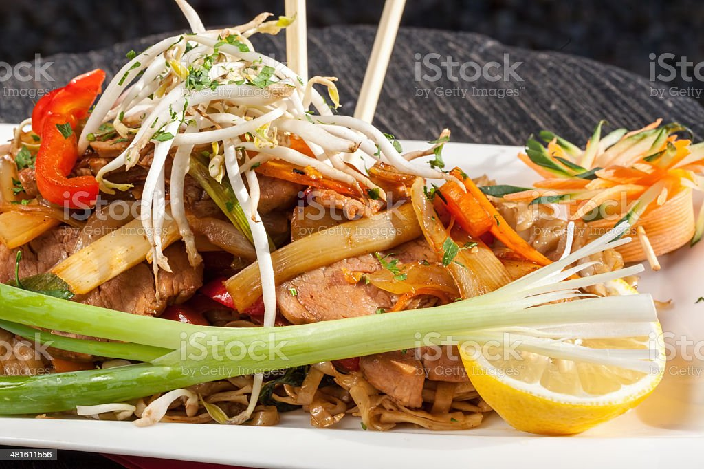 thai pork stock photo