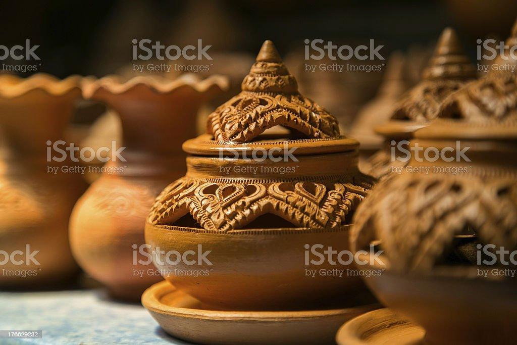 Thai Potteries royalty-free stock photo