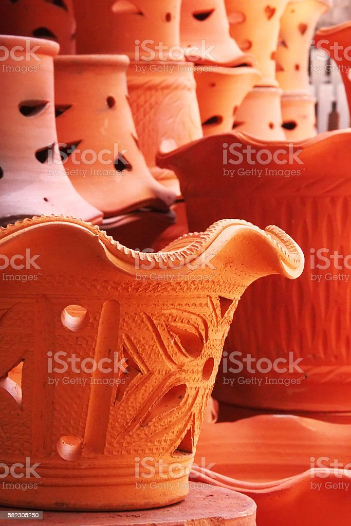 Thai Pottery stock photo
