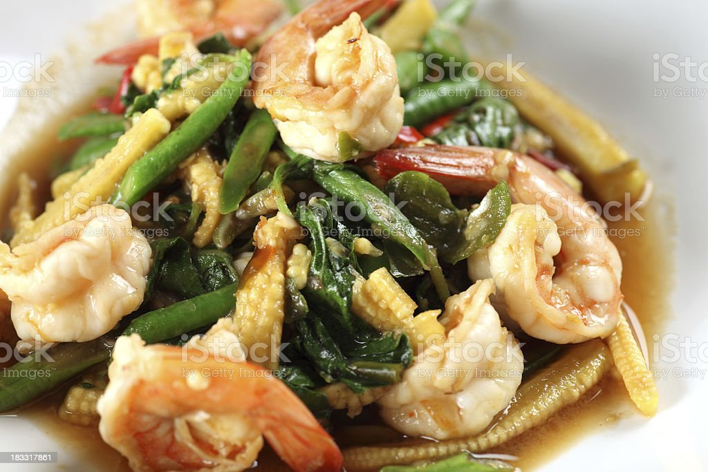 Thai prawn dish royalty-free stock photo