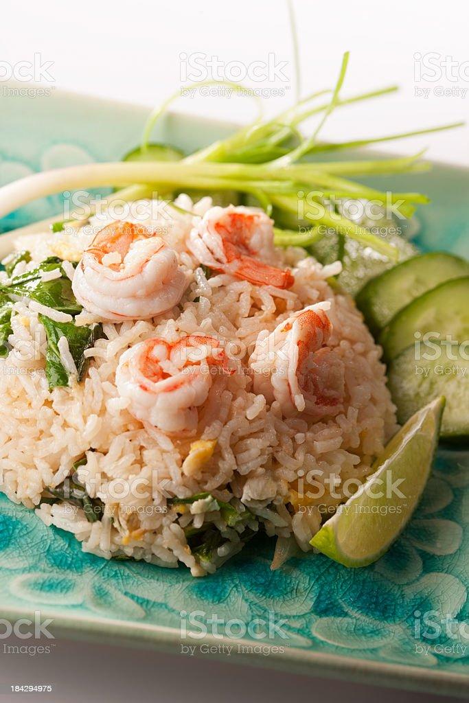 Thai prawn fried rice. royalty-free stock photo