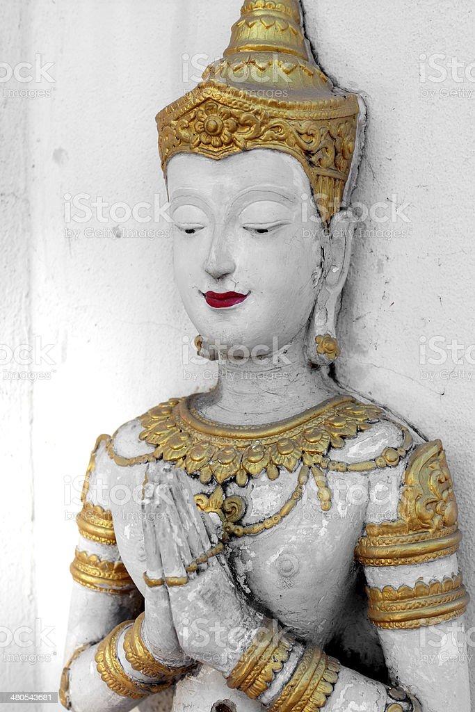 Thai Prayer Statue stock photo