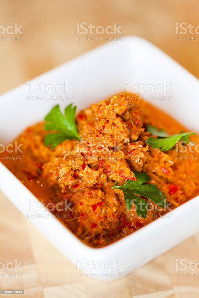 Thai Red Curry Paste stock photo
