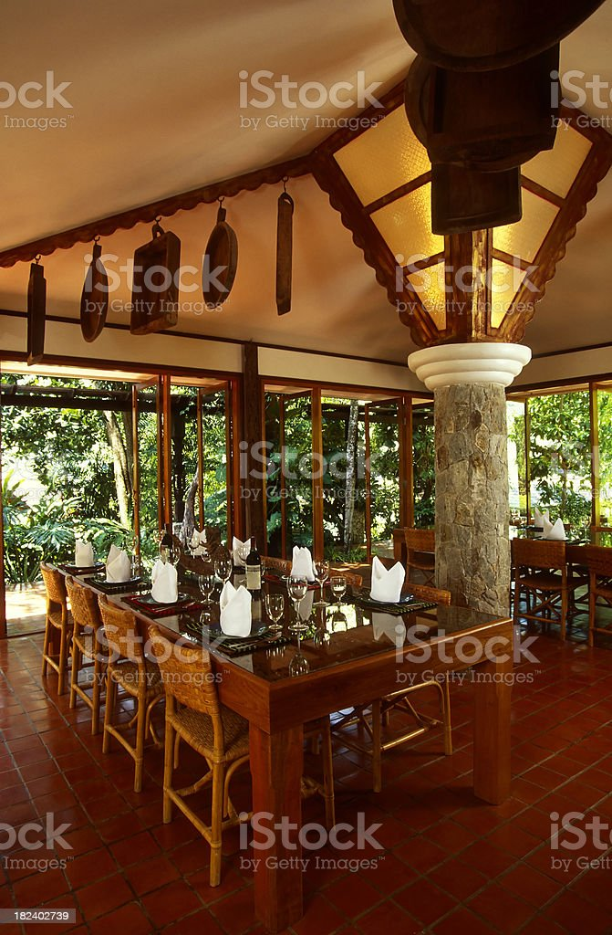 thai resort villa phuket stock photo