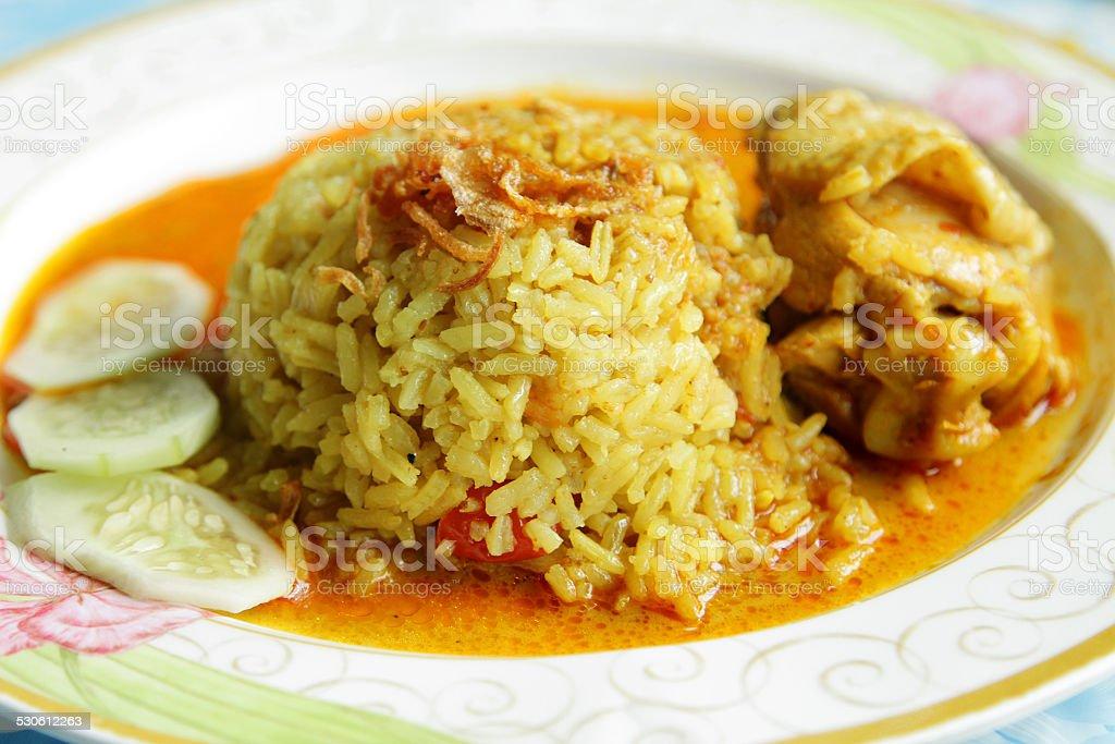 Thai Rice and Chicken Biryani stock photo