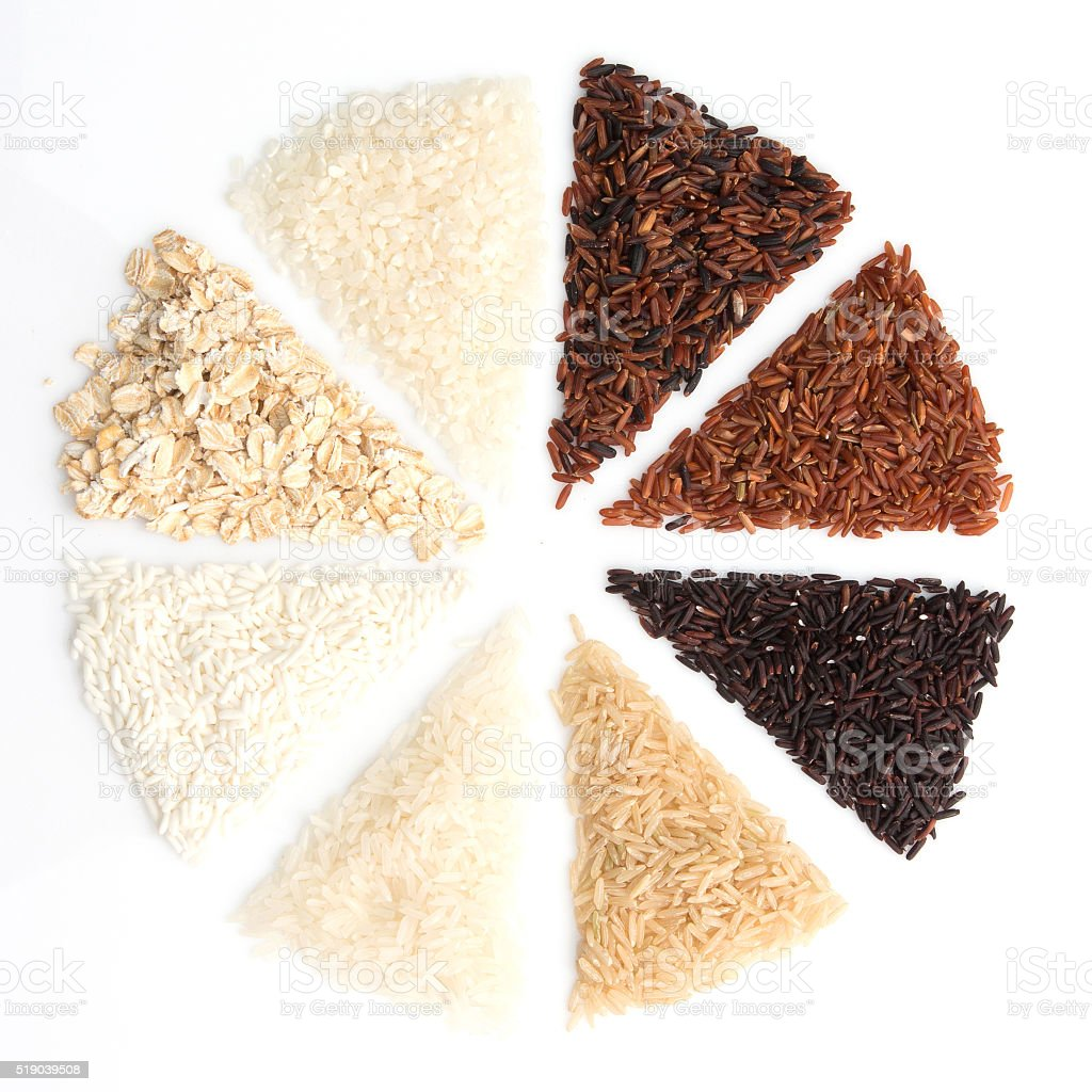 Thai rice is the creation of the thai rice eaperts stock photo