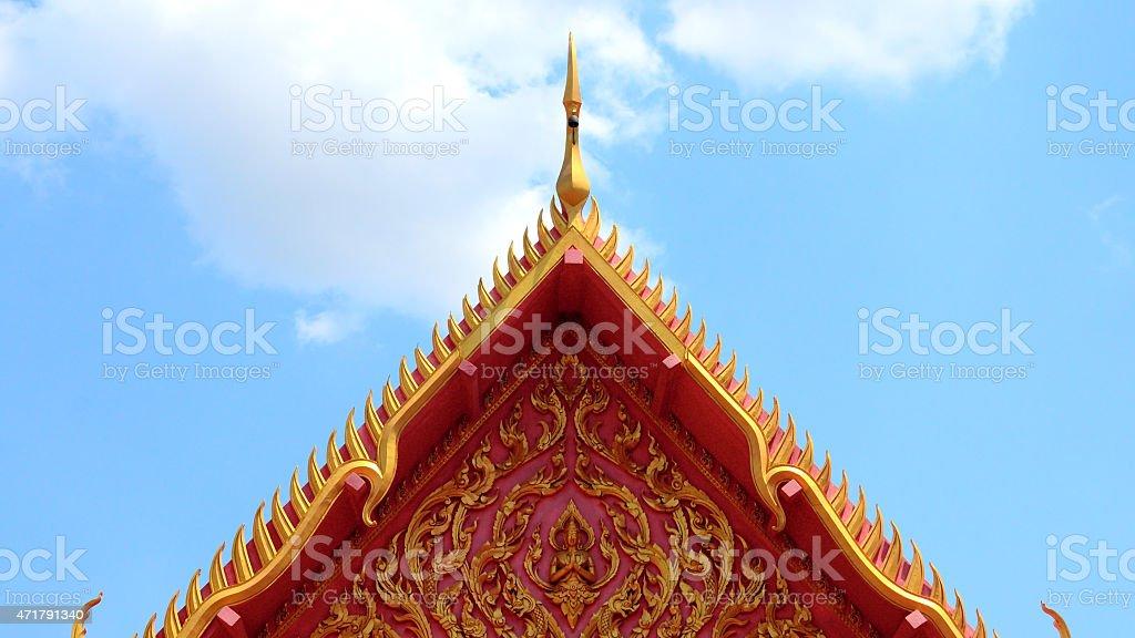 Templo tailandés en el último piso, Bangkok, Tailandia foto de stock libre de derechos