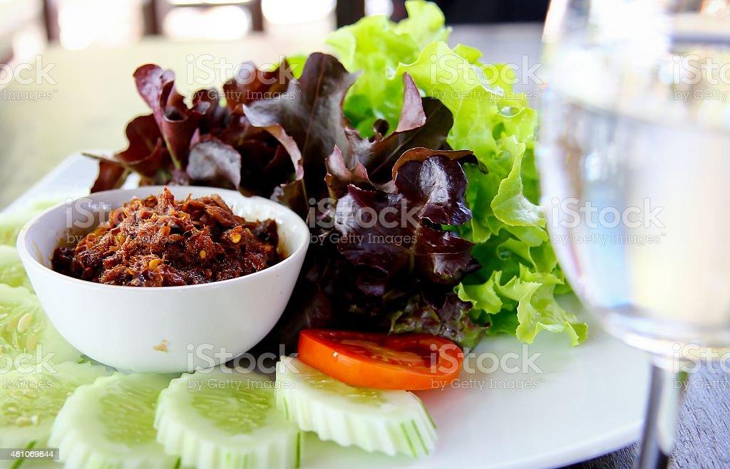 thai salad vegetables stock photo