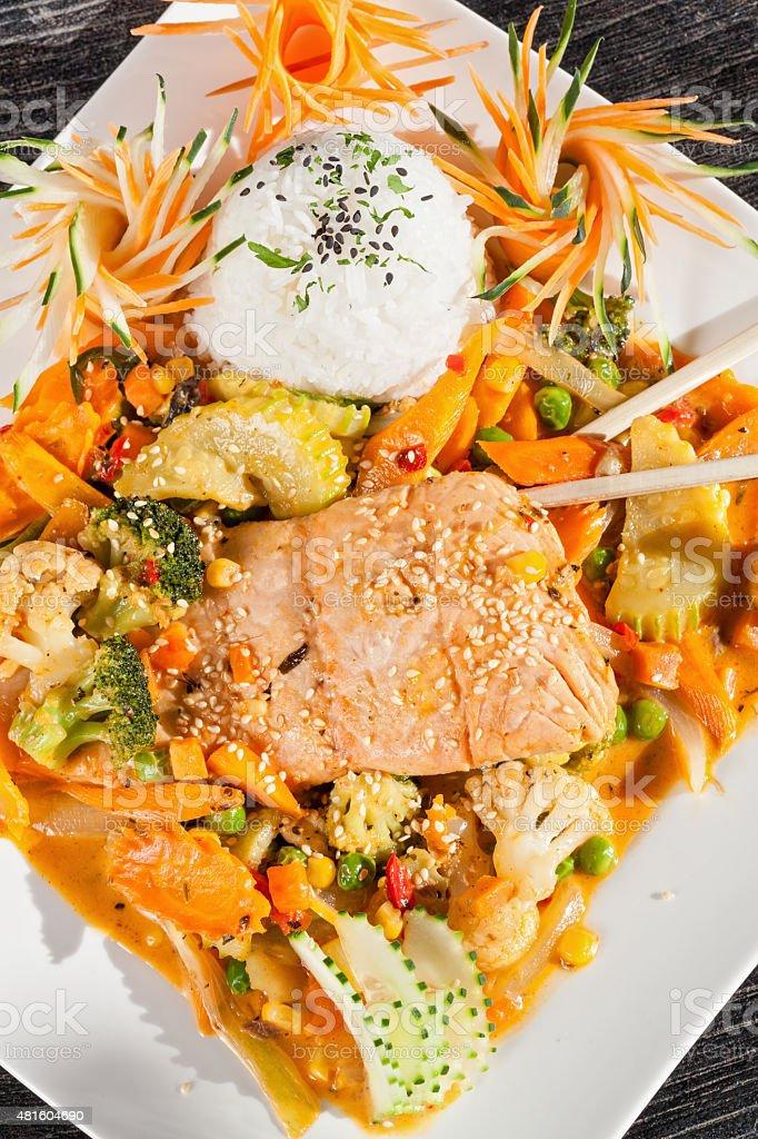 Thai Salmon stock photo