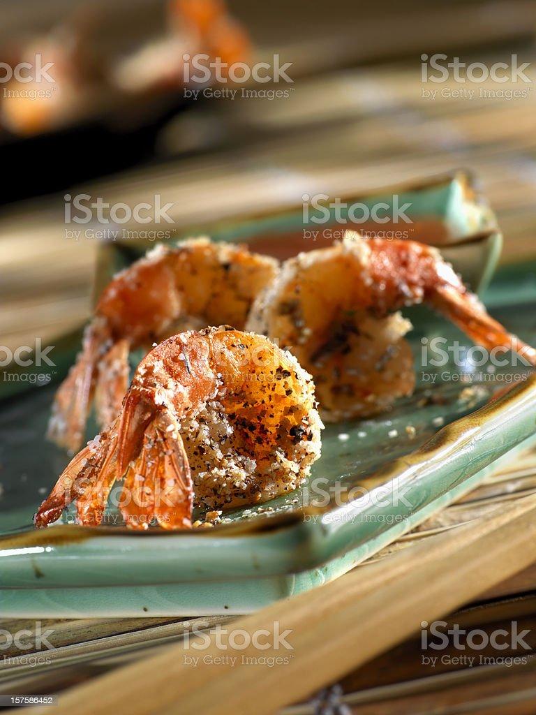 Thai Salt & Pepper Shrimp royalty-free stock photo