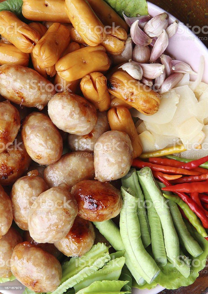 thai sausage royalty-free stock photo