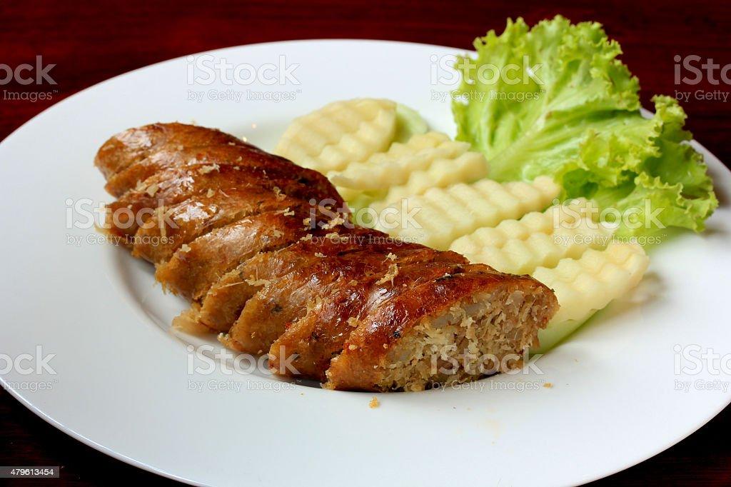 Thai sausage stock photo