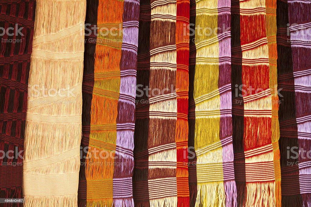 Thai scarfs stock photo