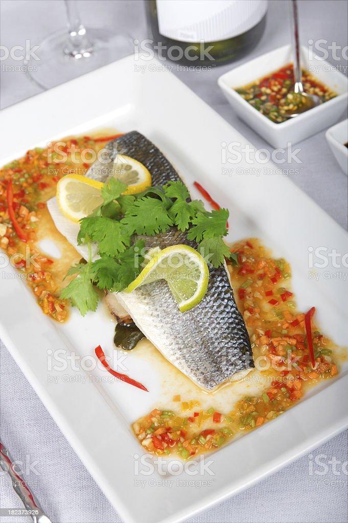 Thai Sea Bass royalty-free stock photo