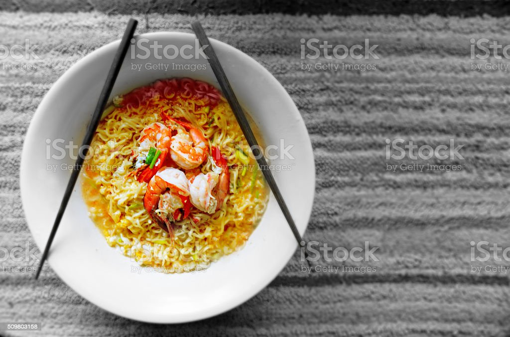 Thai seafood noodle stock photo