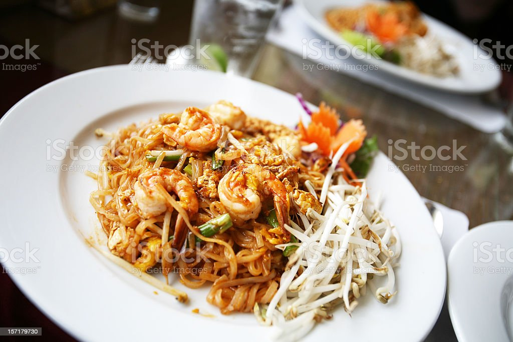 Thai Seafood on Plate royalty-free stock photo