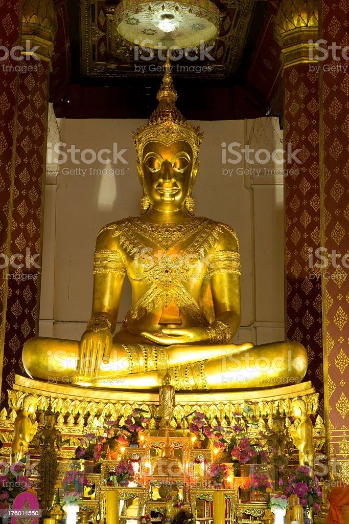 Thai Sitting Buddha royalty-free stock photo