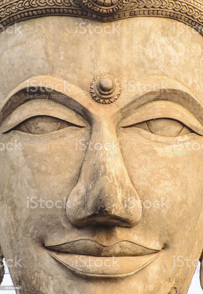 Thai smile Buddha Statue stock photo