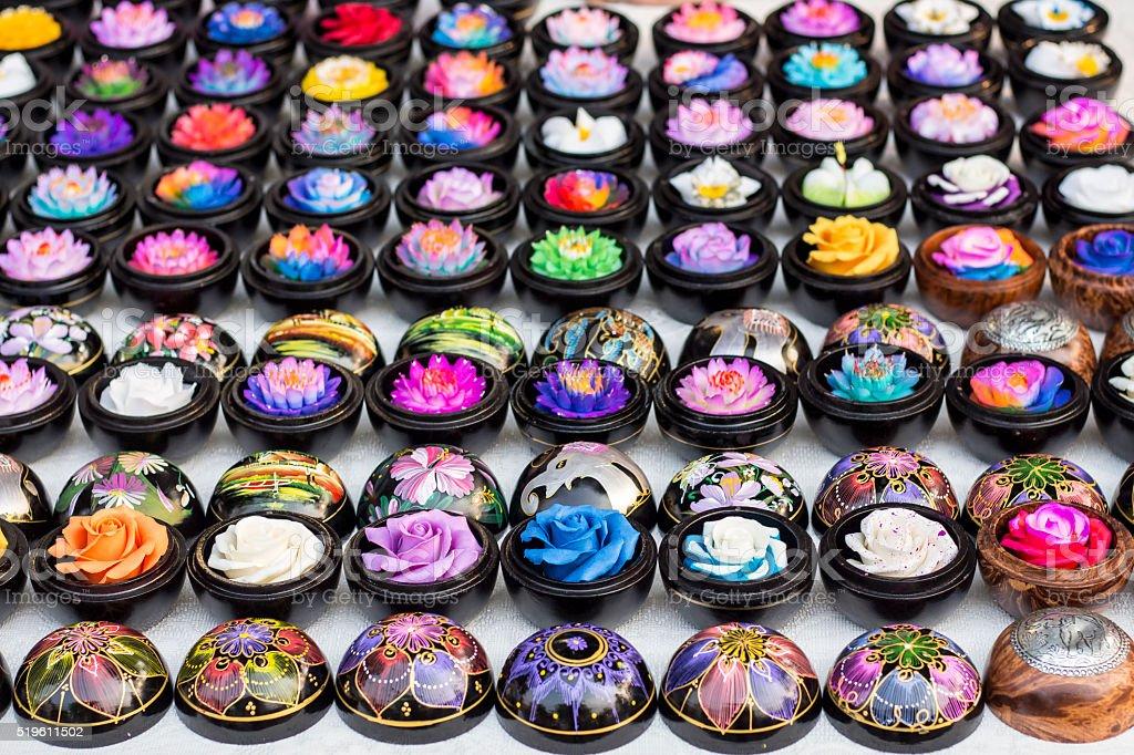 Thai Soap Art stock photo