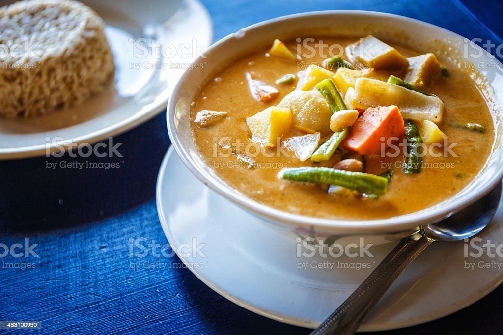 Thai soup stock photo