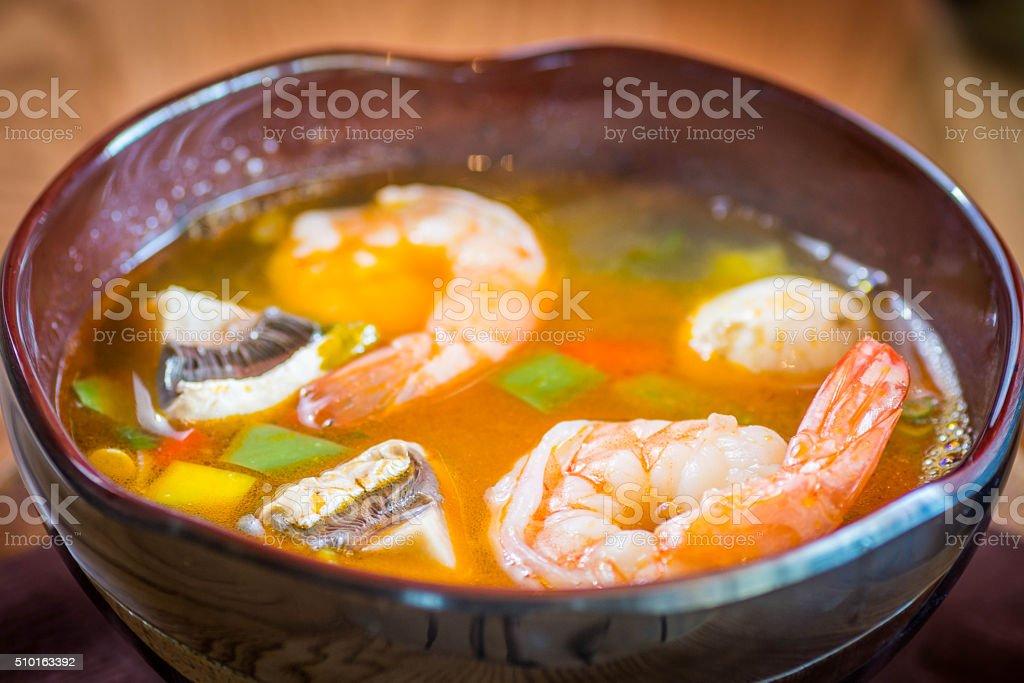 Thai soup stock photo