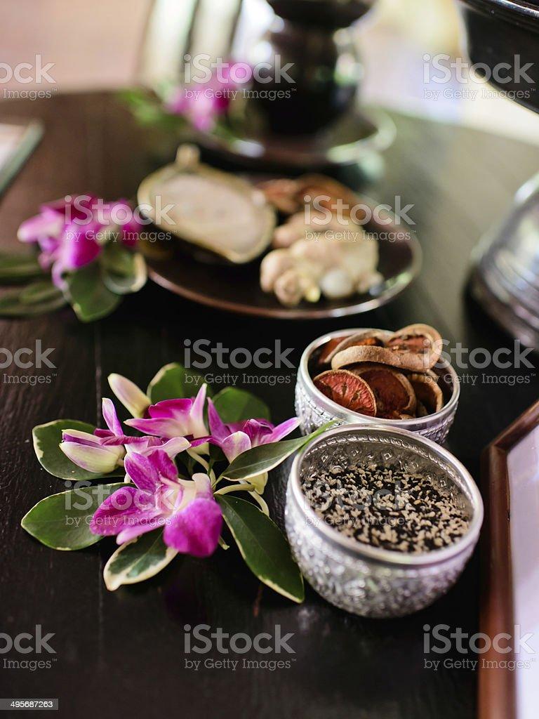 Thai Spa herb. stock photo