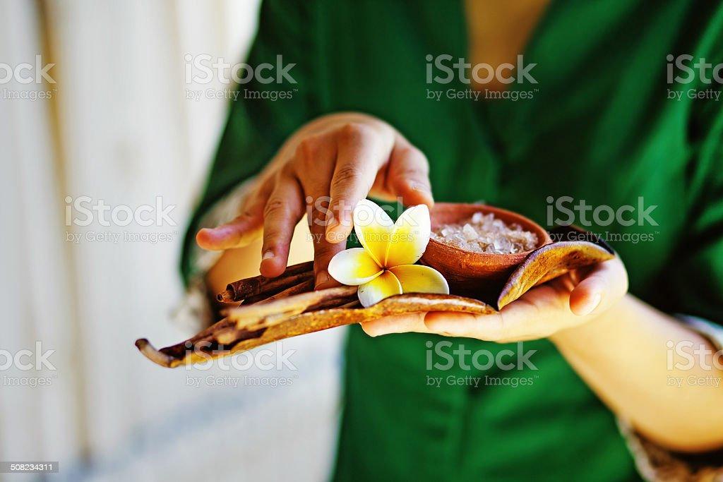 Thai spa tradition stock photo