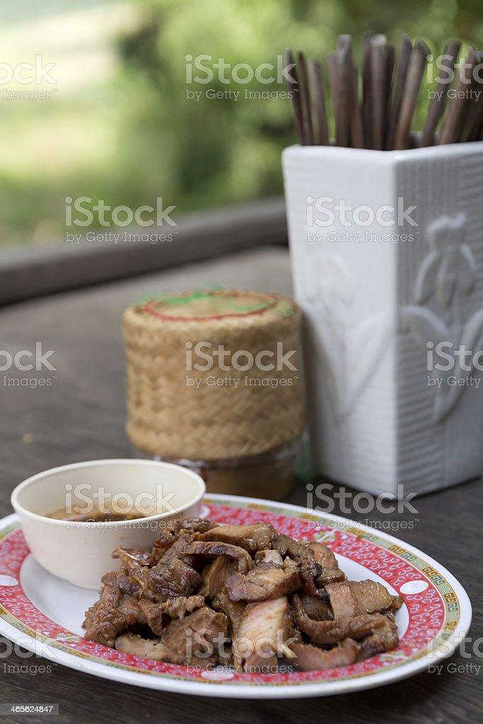 Thai steak with sauce . royalty-free stock photo
