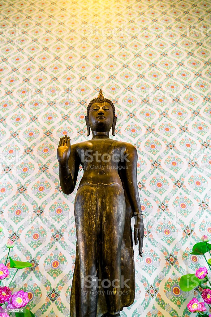 Thai Stone Buddha stock photo