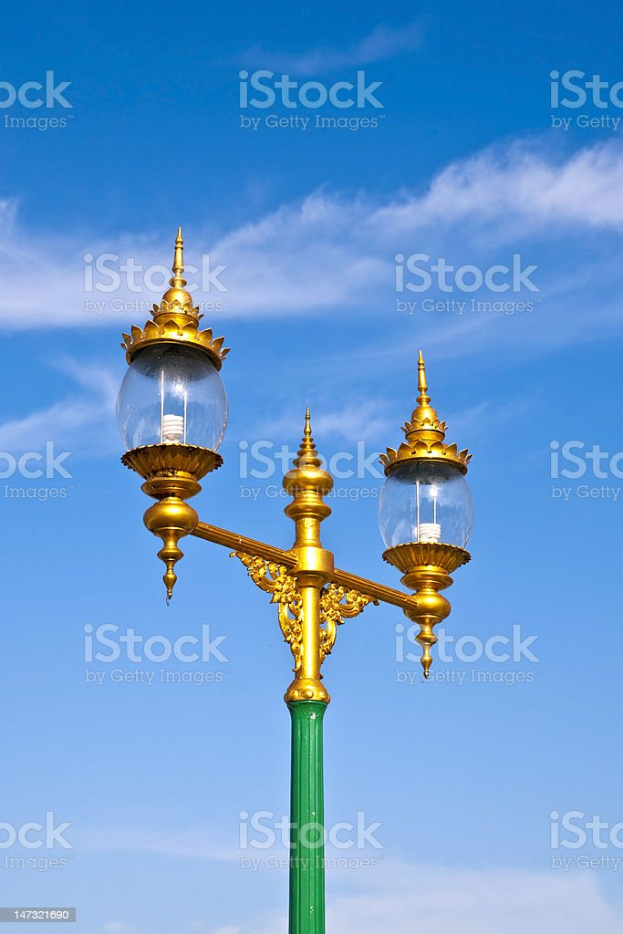 Tajski ulicy światła zbiór zdjęć royalty-free