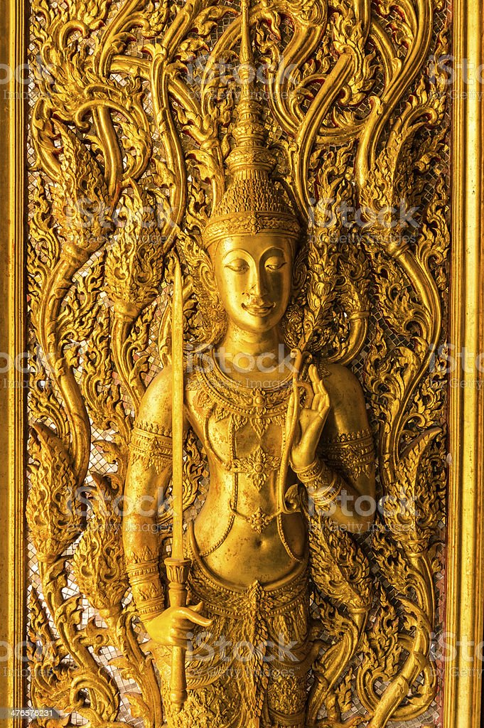 thai style art carving royalty-free stock photo