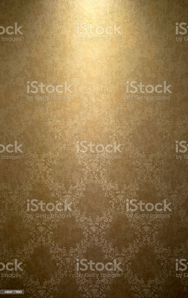 Thai style background with the light and shadow stock photo