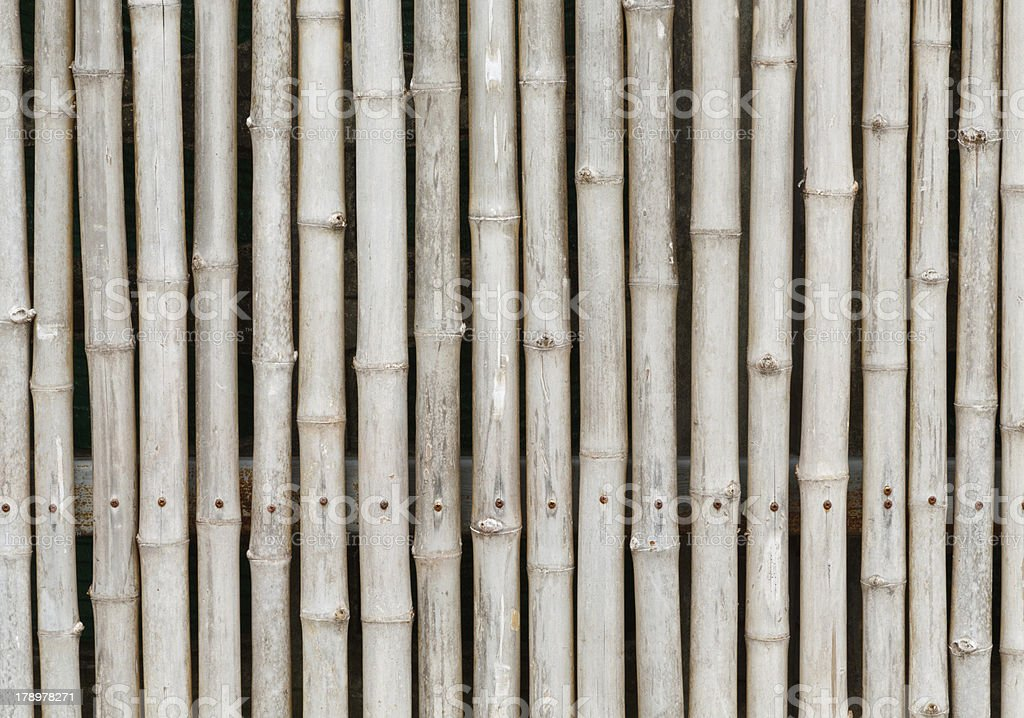 thai style bamboo fence royalty-free stock photo