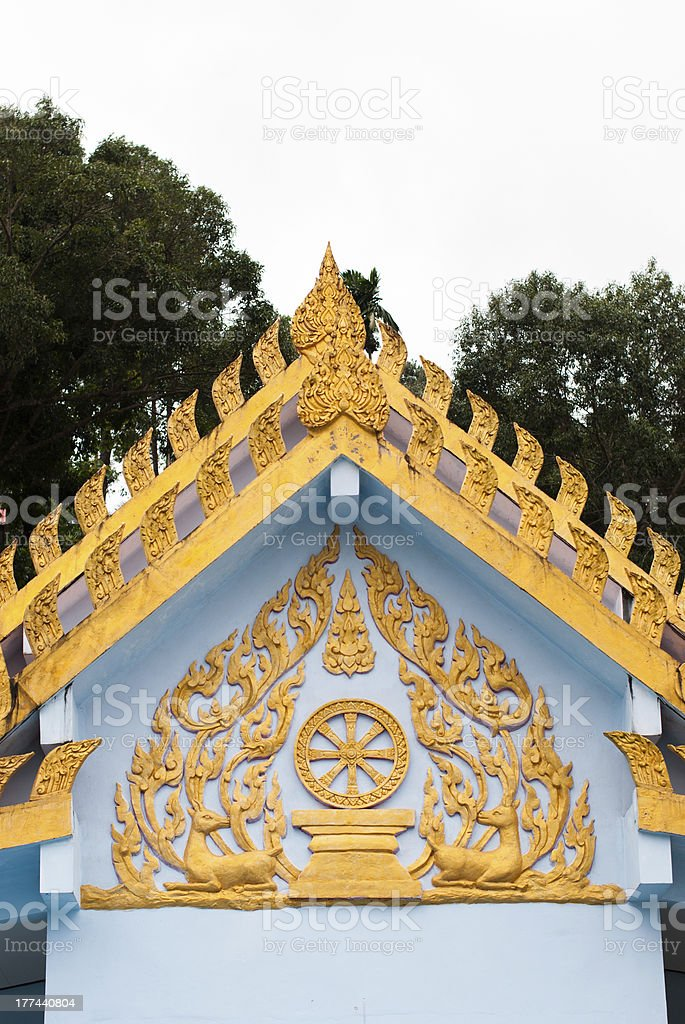 Thai style Buddhist church royalty-free stock photo