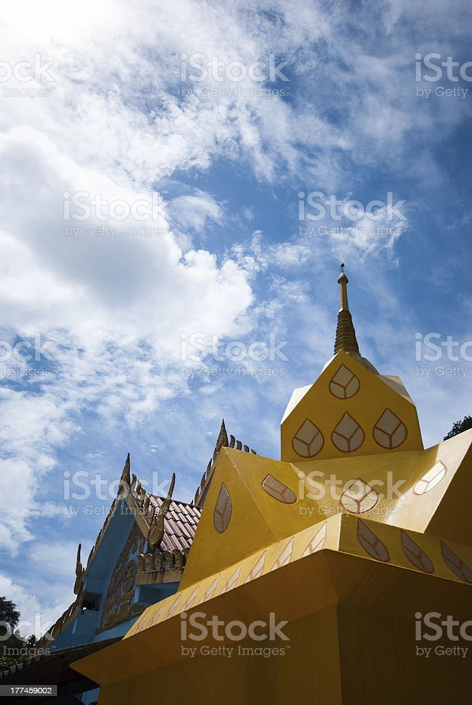 thai style Buddhist church royalty-free stock photo