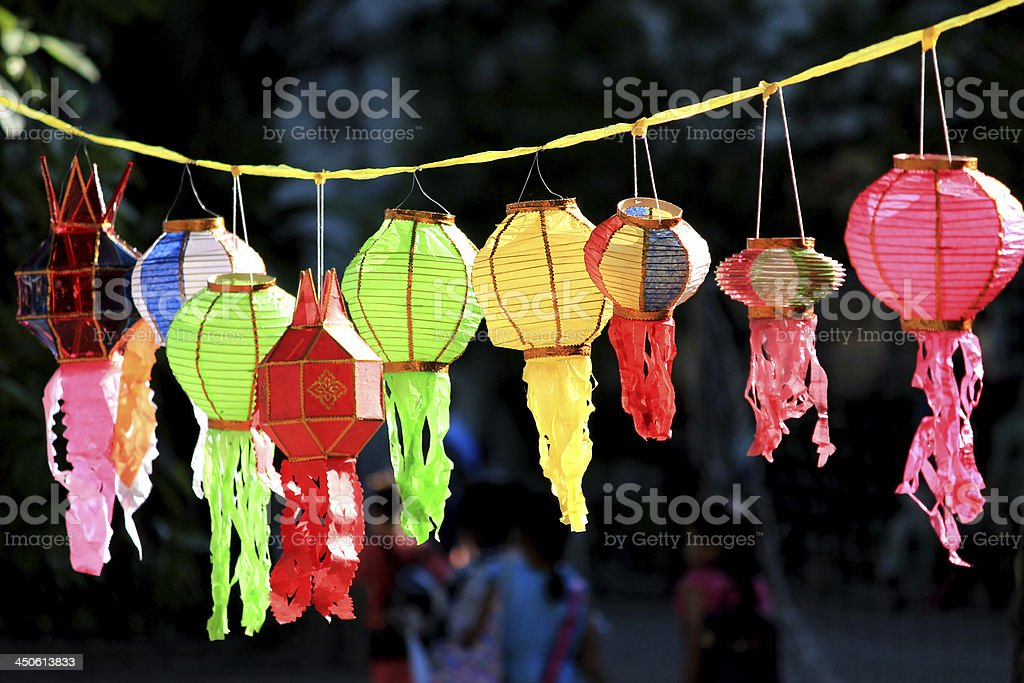 Thai style decoration lamp royalty-free stock photo