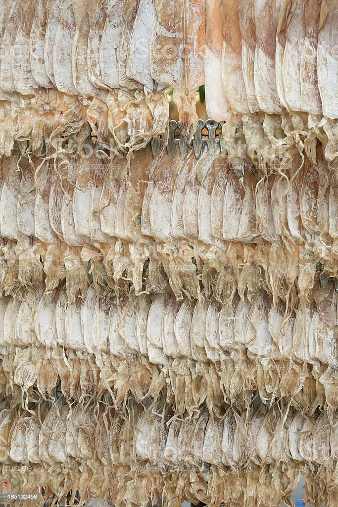Thai style dried squid royalty-free stock photo
