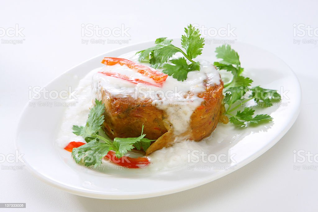 Thai Style Fish Cake with Red Curry (Hor Mok) royalty-free stock photo