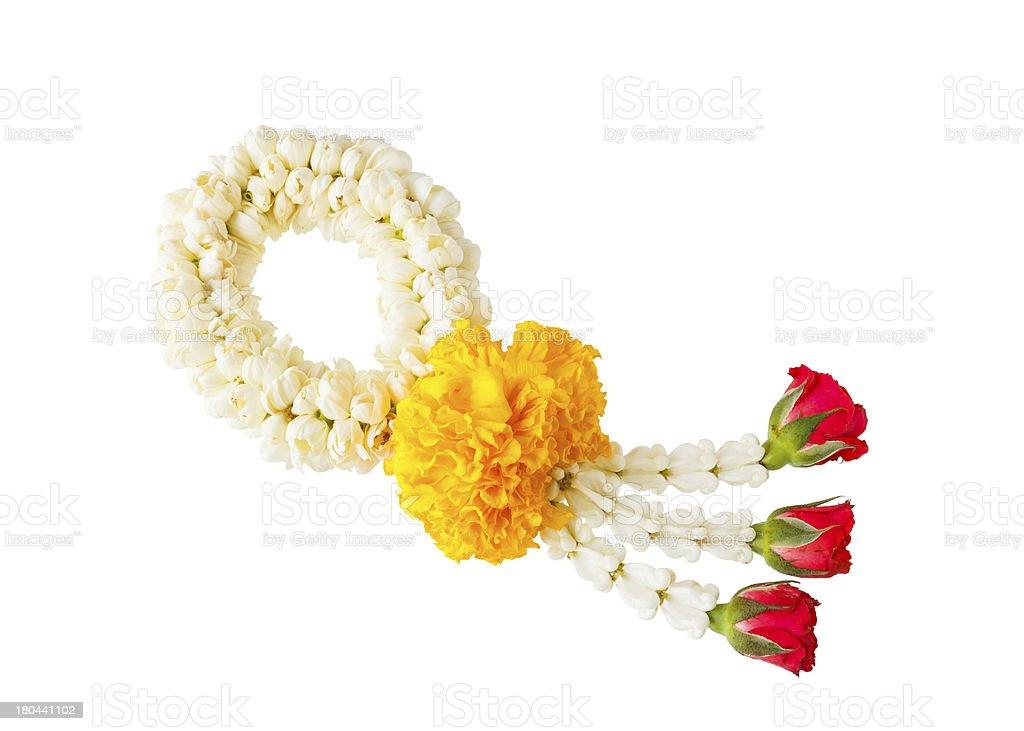 Thai style flower garland royalty-free stock photo