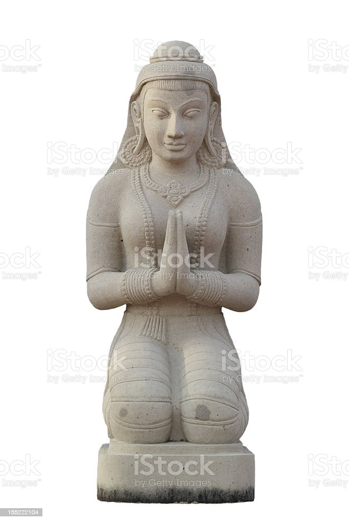 Thai style girl statue, Thailand royalty-free stock photo