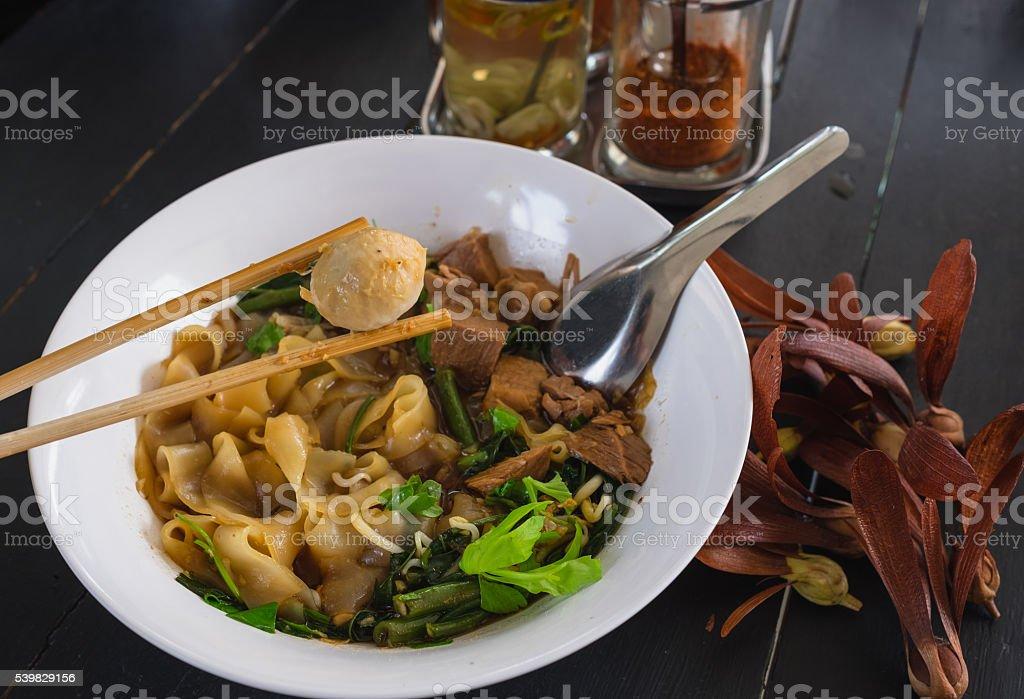Thai style noodle,bowl stock photo