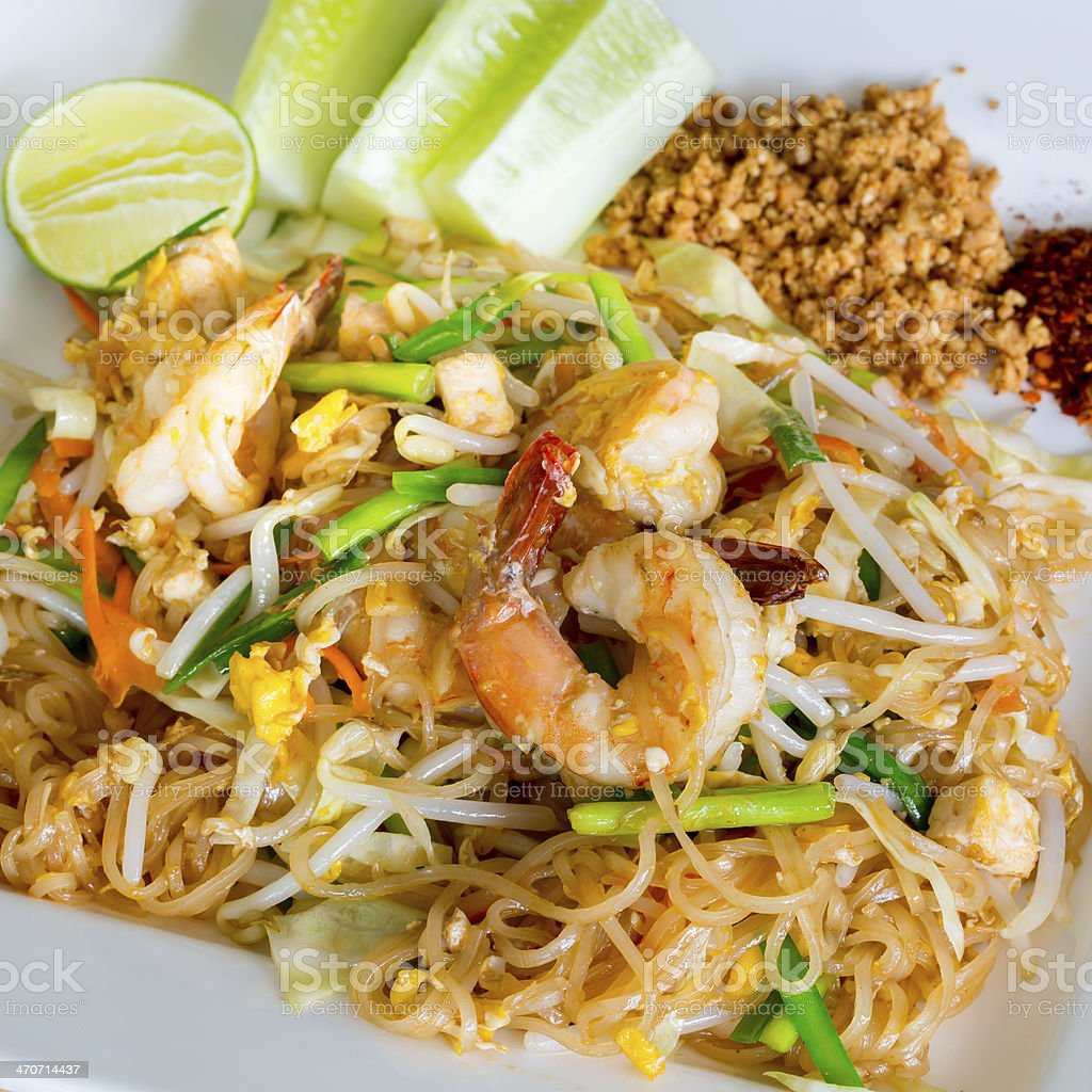 Thai style noodles stock photo