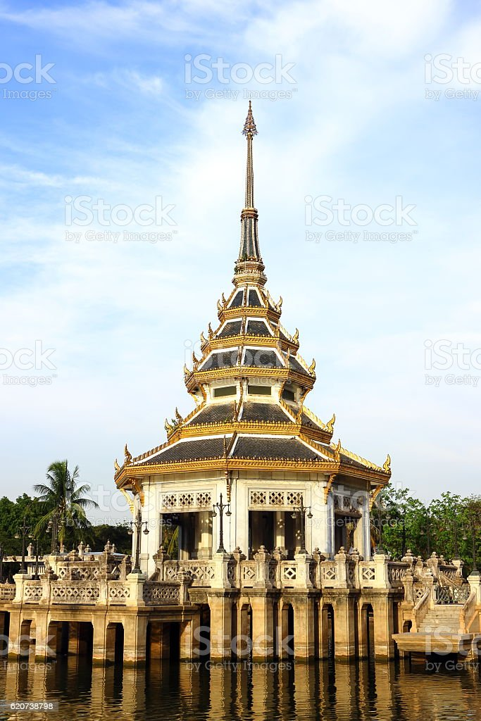 Thai style of Pavilion in the park. stock photo