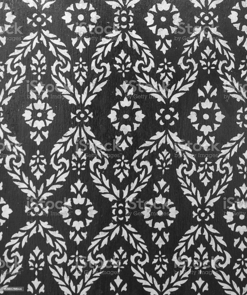 Thai style pattern stock photo