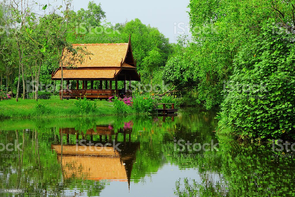 thai style pavilion royalty-free stock photo