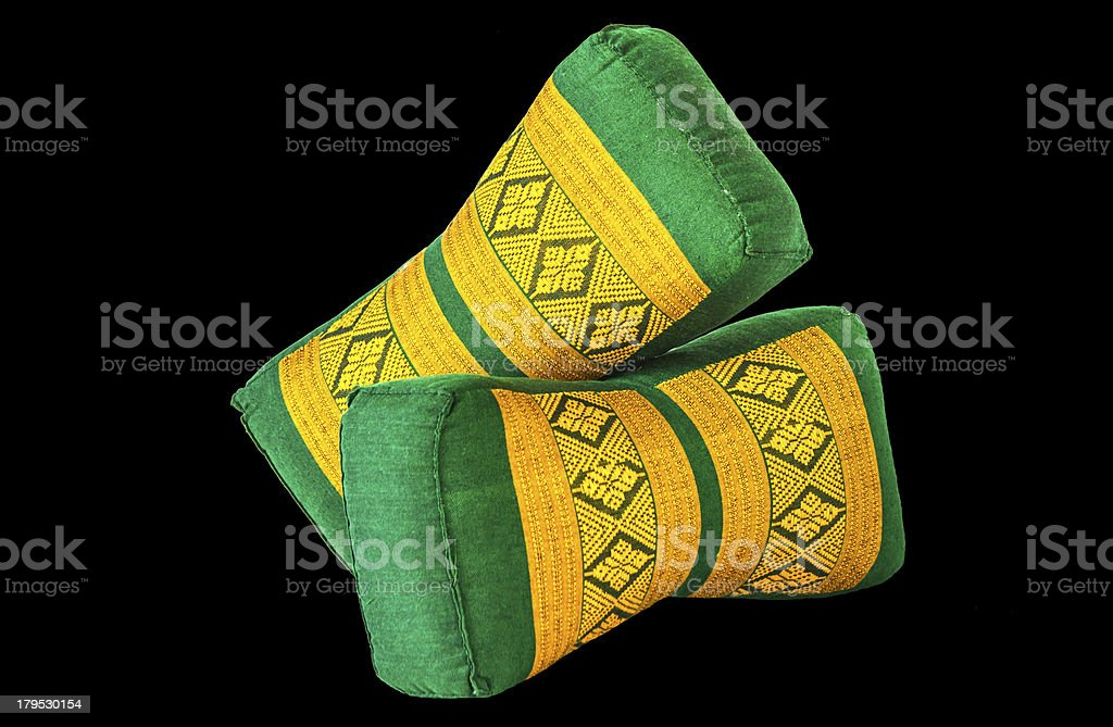 thai style pillow royalty-free stock photo