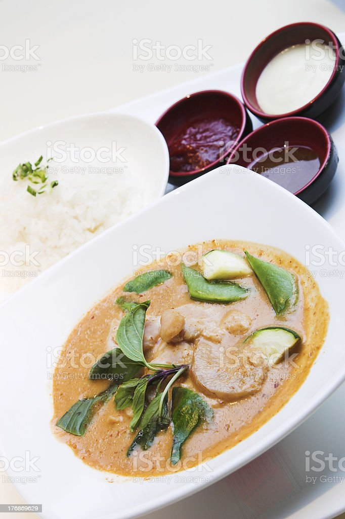 Thai Style Red Curry Chicken royalty-free stock photo