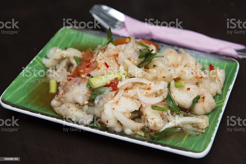 Thai style spicy chicken feet salad royalty-free stock photo