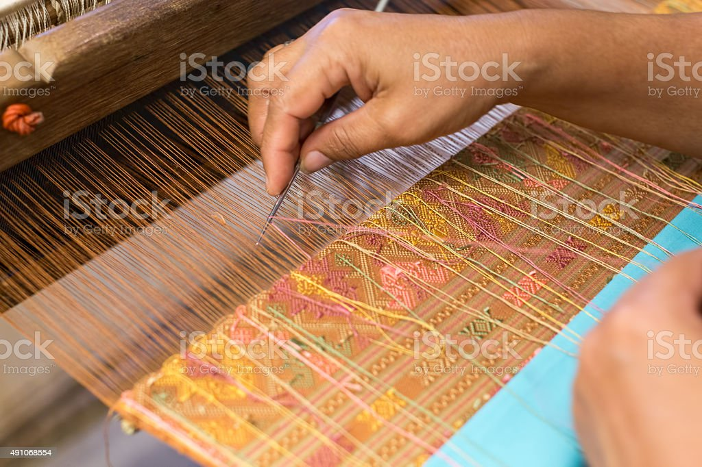 Thai style weaving equipmen stock photo