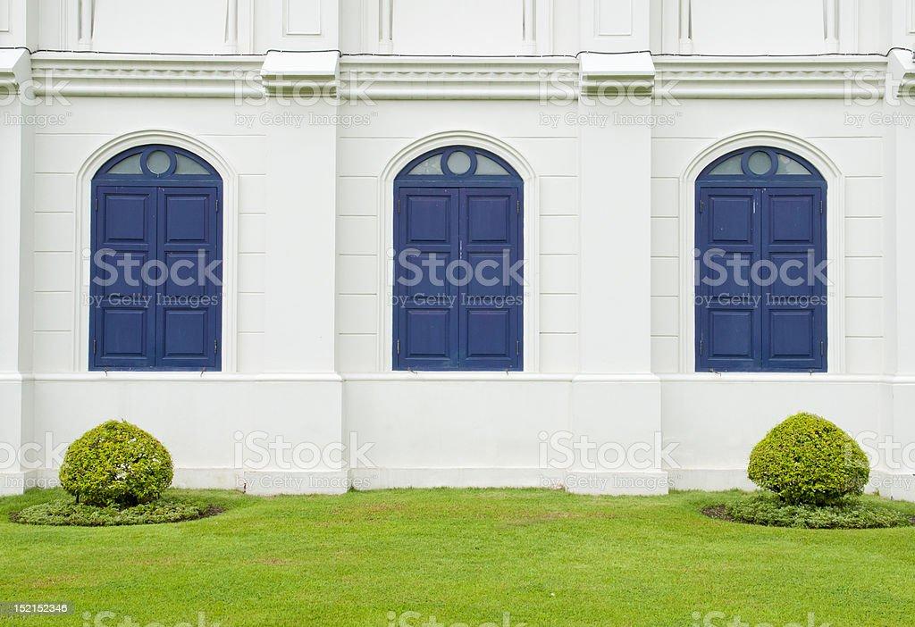 Thai style windows royalty-free stock photo